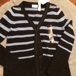 Liz Claiborne striped cardigan medium NWT